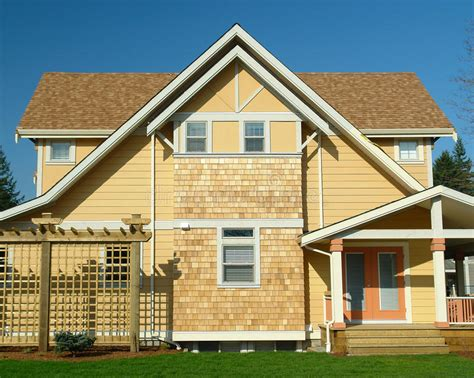 house exterior royalty free stock image image 9586736 new home exterior yellow siding royalty free stock