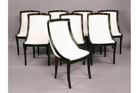 Empire Style Dining Room Chairs Set Of Eight Stylish Empire Style Dining Chairs