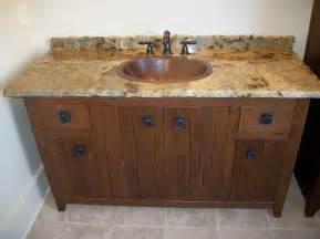 Borders solid white oak rough sawn vanity with granite top