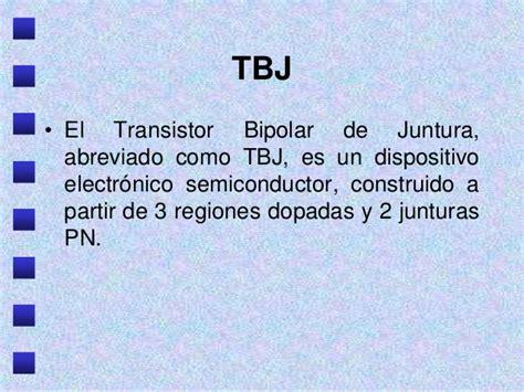 transistor bipolar juntura transistores de juntura bipolares unidad i