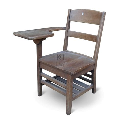 School Equipment Prop Hire 187 Wooden Chair With Desk Arm Desk With Chair