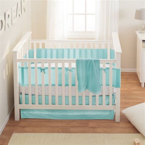 Baby Crib Bumper Safety Breathablebaby Safety Crib Bedding Set Aqua Mist 3 Breathablebaby Http Www