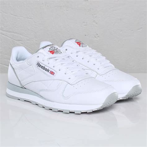 Reebok Classic White by Reebok Classic Leather White Light Grey Clothes Make Up