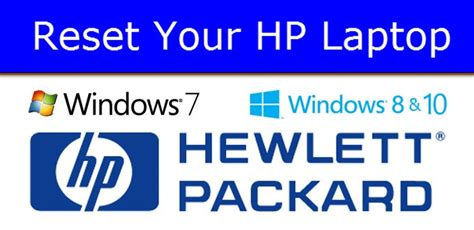 resetting hp computer to factory how to reset hp laptop back to factory settings