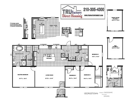 Cmh Schult Georgetown Tru Factory Direct Tru Manufactured Homes Floor Plans