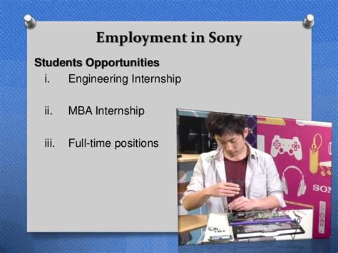 Sony Mba Internship by Sony Corporation