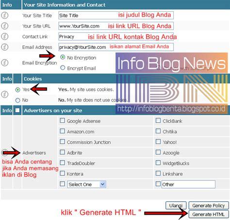 cara membuat blog atau website cara mudah membuat privacy policy di blog atau website