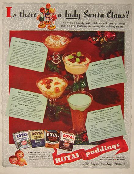 Vintage Regal Puding 1941 Royal Pudding Ad With Recipes Vintage Magazine Ads