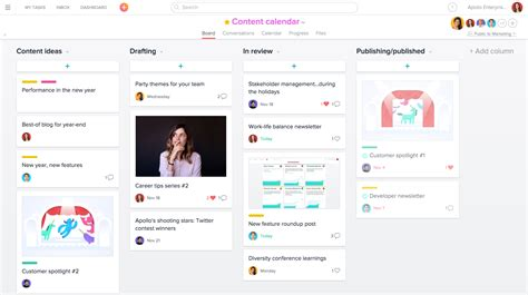 create editorial calendars in asana product guide asana