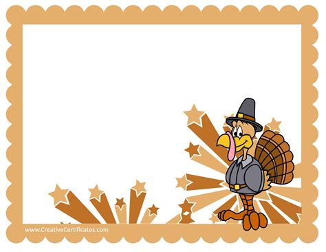 thanksgiving gift card template free thanksgiving border templates customizable printable