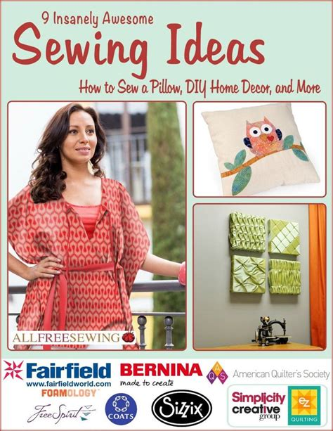 9 insanely awesome sewing ideas how to sew a pillow diy 17 best images about our free sewing ebooks on pinterest
