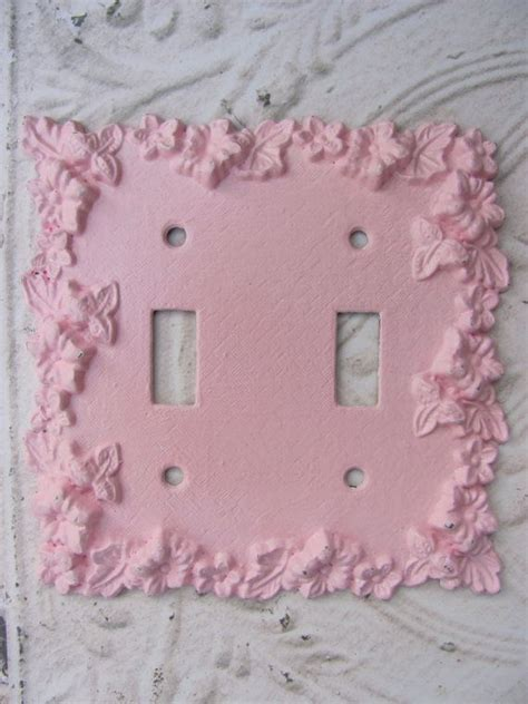 Segiempat Shabby Chic 8 lightswitch plate pink shabby chic nursery room lightswitch cover on etsy 11 00
