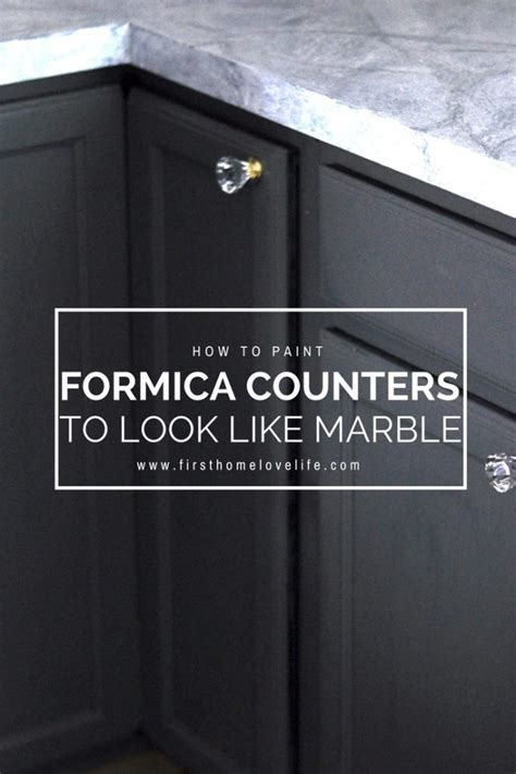 How To Paint Formica Countertops To Look Like Granite by Diy Painted Marble Countertops Home