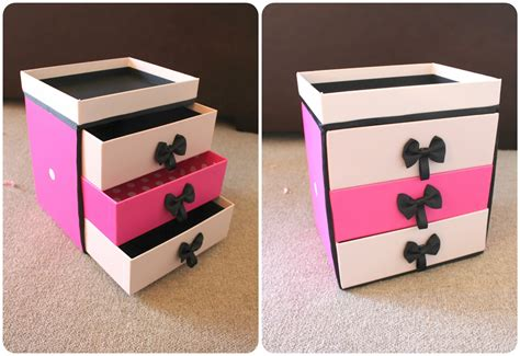diy from shoe boxes peachfizzz diy make up storage