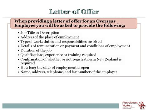 Offer Letter Sle New Zealand hiring a foreign worker in new zealand