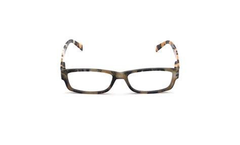 mel rectangular yellow frame reading glasses eyelids