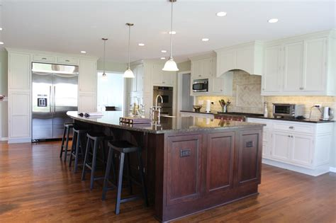 Large Island Kitchen Large Kitchen Island Cherry Cabinets Islands Designs