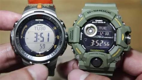 Casio Protrex G Shock casio protrek prw 3000b 5 vs casio rangeman gw 9400 3