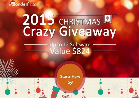 Giveaway Softwares - wonderfox christmas giveaway softwares value 824 modernlifetimes