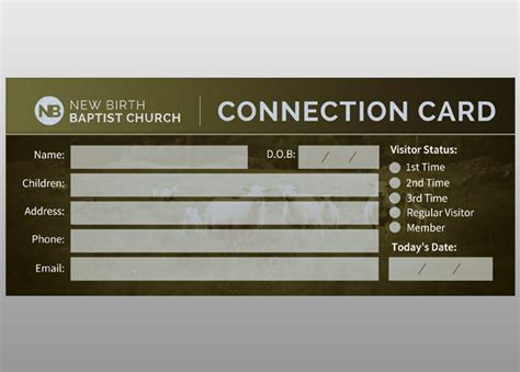 Church Connection Card Template by Sheep Church Connection Card Card Templates On Creative