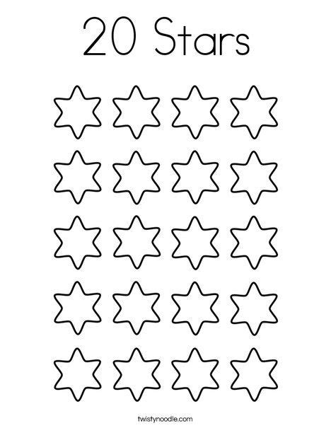 Numbers 0 20 Coloring Pages by 20 Coloring Page Twisty Noodle Ingilizce