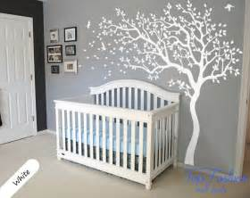 wall decal nursery tree and birds art baby kids room sticker decor stickers jungle scene