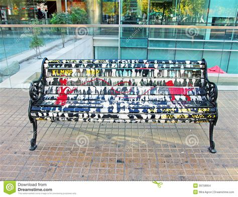 Creative Benches by Painted Bench Editorial Stock Image Image 39758954