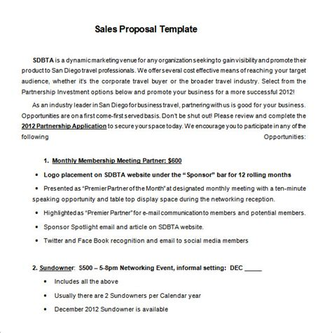 sales proposal templates 19 free word excel pdf ppt