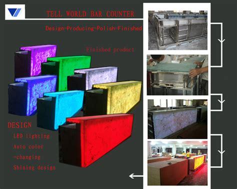 Sale Modern Design Solid Surface Acrylic Led Effect Translucent Acrylic Marble Rgb Led Light Modern Led Bar