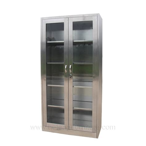 Stainless Steel Bookcase With Glass Door View Stainless Metal Bookcase With Doors