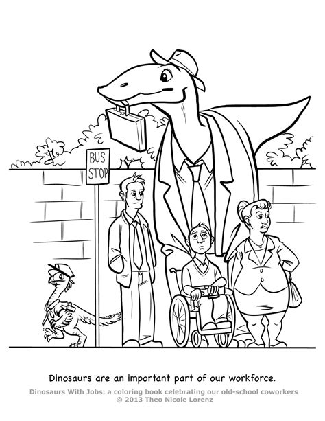 coloring book pages jobs dinosaurs with jobs free coloring pages art giveaway