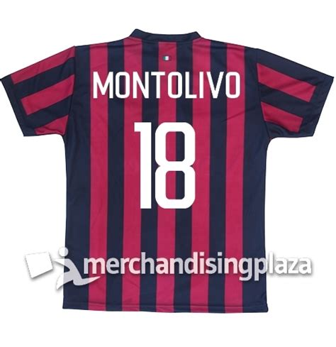 Jersey Ac Milan Home Sleeve Musim 2017 2018 ac milan home 2017 2018 replica jersey montolivo 18 for only c 35 06 at merchandisingplaza ca