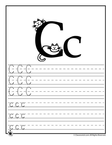 printable worksheets letter c learning abc s worksheets learn letter c classroom jr i