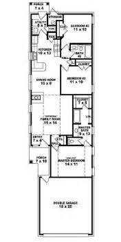 Floor Plans For Narrow Lots 653501 Warm And Open House Plan For A Narrow Lot