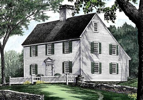 saltbox house plans with garage colonial saltbox home saltbox style historical house plan 32439wp
