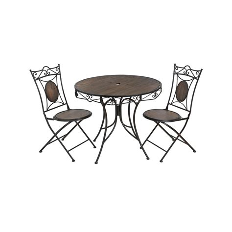 Iron Bistro Chairs Antique Brown Iron Garden Bistro Table With Two Chairs