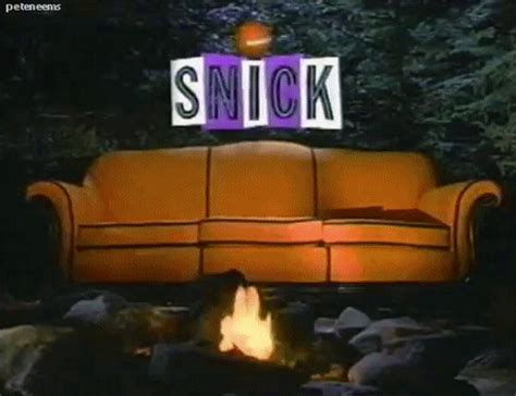 snick orange couch are you afraid of the dark 90s gif find share on giphy
