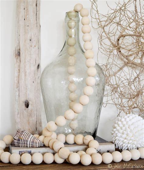 farmhouse beads wooden bead garland cm natural hamptons