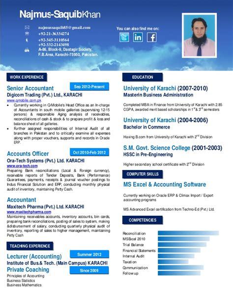 Best Resume Format Linkedin by Professional Cv