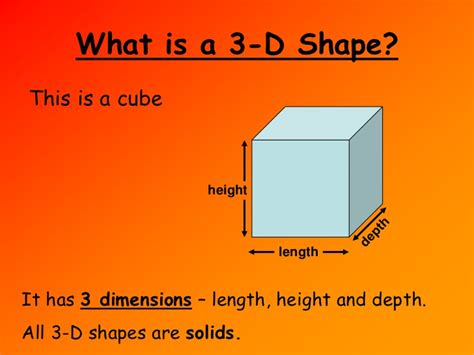 three properties of color properties of 3 d shapes