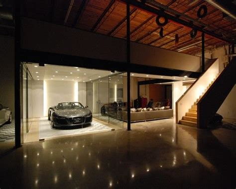 garage living amazing car showroom design with living room awesome