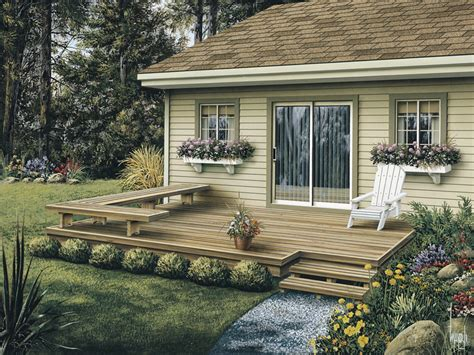 small backyard deck dewey low patio decks plan 002d 3004 house plans and more