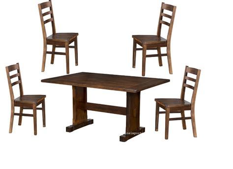 rustic 5 pc dining table set expresso 5 pc dining table set