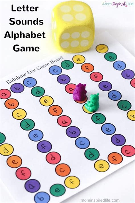 printable alphabet letters and sounds printable letter sounds alphabet board game