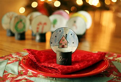 best place to get christmas table winter snow globe place cards make and takes