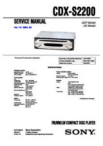 sony cdx s2200 service manual free schematics eeprom repair info for electronics