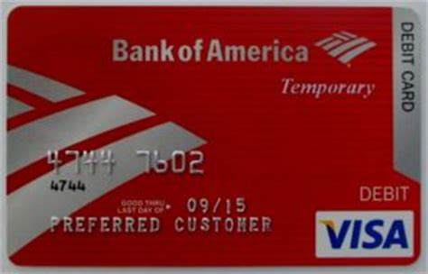 Bank Of America Gift Card - bank card bank of america temporary bank of america united states of america col