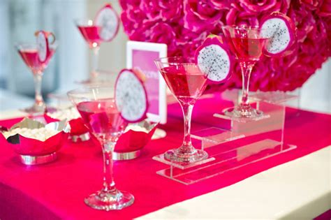 cocktail ideas decorations idea of the month pink and white