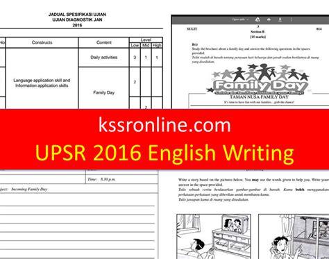 new year 2016 writing paper kssronline kssr dskp upsr linus ujian diagnostik