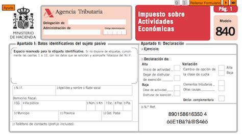 calculadora de impuestos para actividad empresariales y profesionales 2016 en excel el impuesto sobre actividades econ 243 micas iae en valencia